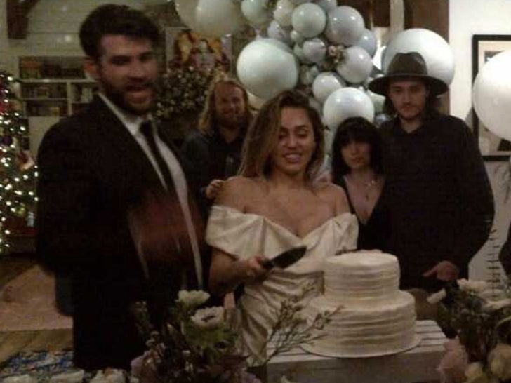 Miley Cyrus and Liam Hemsworth -- Wedding Photos