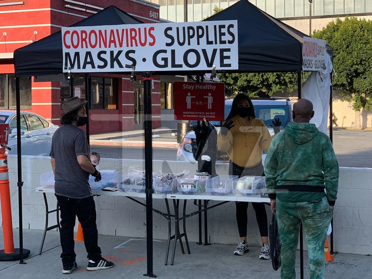 Coronavirus Supplies Stands Pop Up In Hollywood