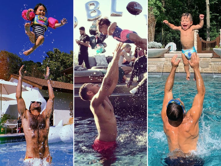 Celebrity Family Pool Fun