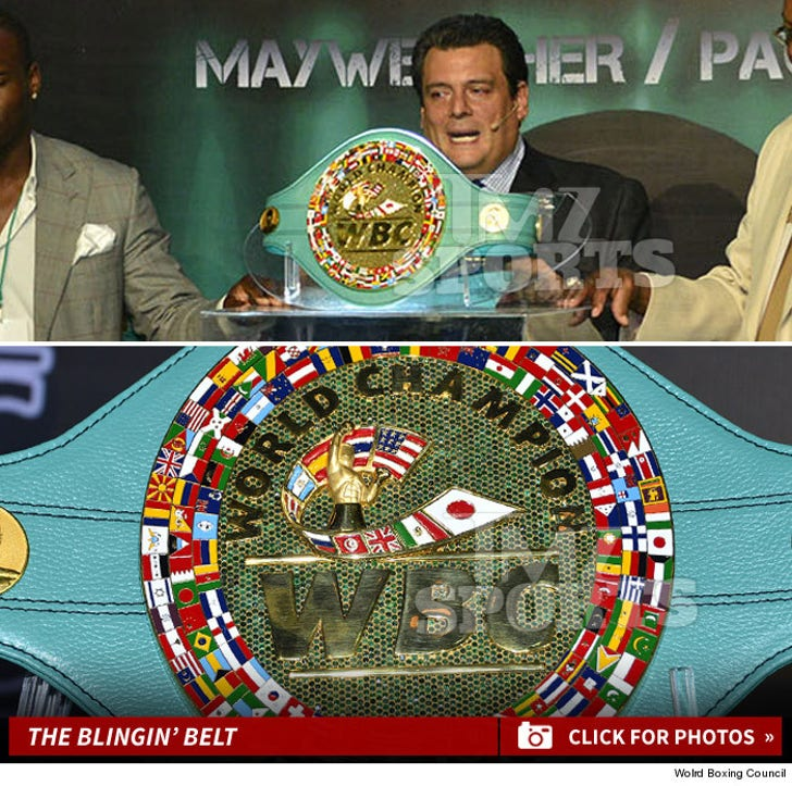 Floyd Mayweather vs Manny Pacquiao -- The Blinged Out Belt