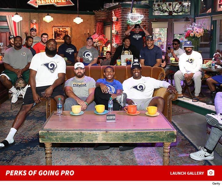 L.A. Rams Rookies Tour Warner Bros. Studios
