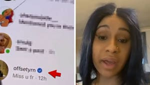 Cardi B Claims Hack Responsible for Offset's 'Miss u' DM to Tekashi69's GF