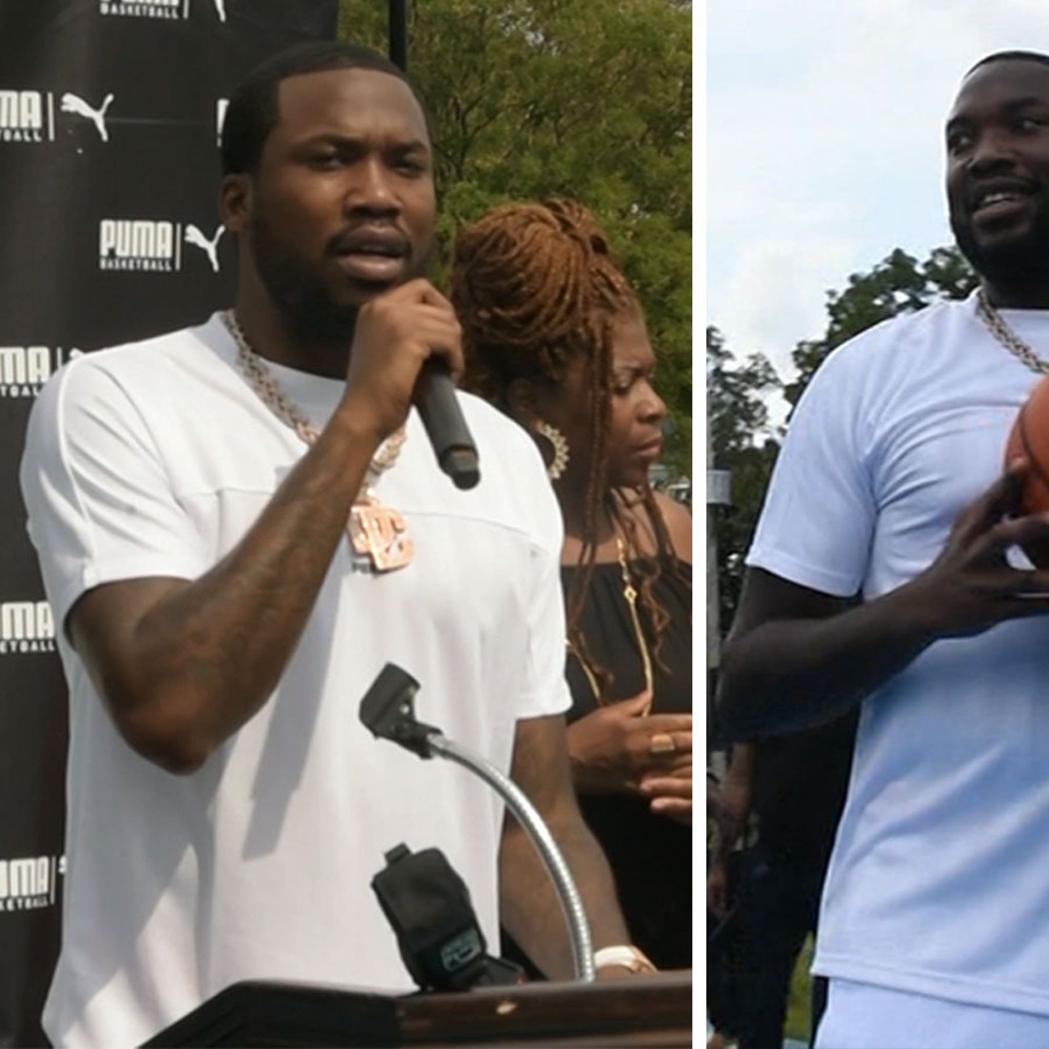 Meek Mill Unveils Renovated Basketball Court in Philly Neighborhood