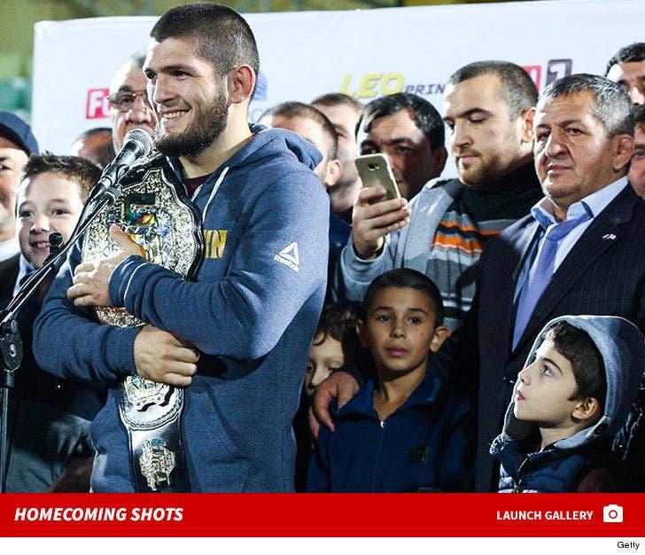 Khabib Nurmagomedov's Homecoming Photos