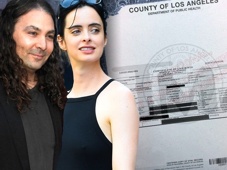 Krysten Ritter Welcomes First Child, a Baby Boy Named Bruce