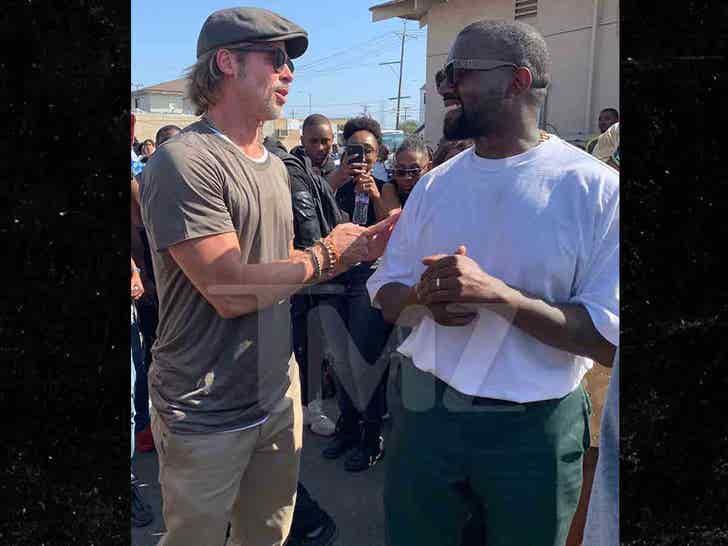 Brad Pitt Joins Kanye For Watts Sunday Service