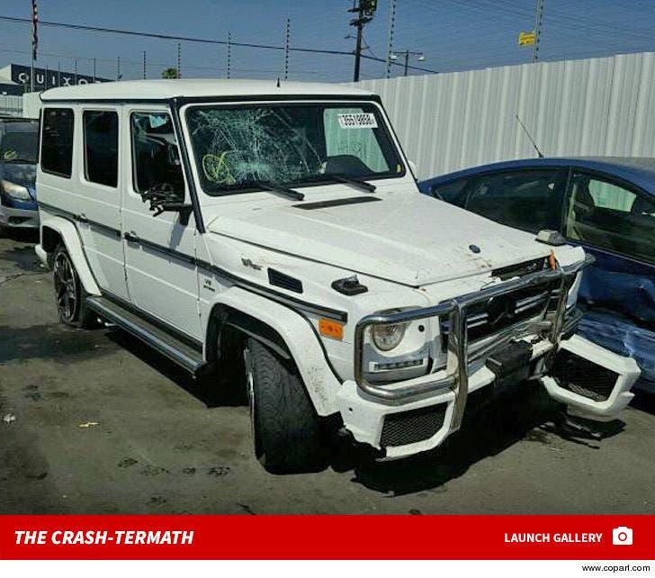 Mac Miller's Crashed Car