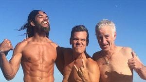 Joakim Noah Shows Off Shredded Beach Bod With Josh Brolin and John McEnroe