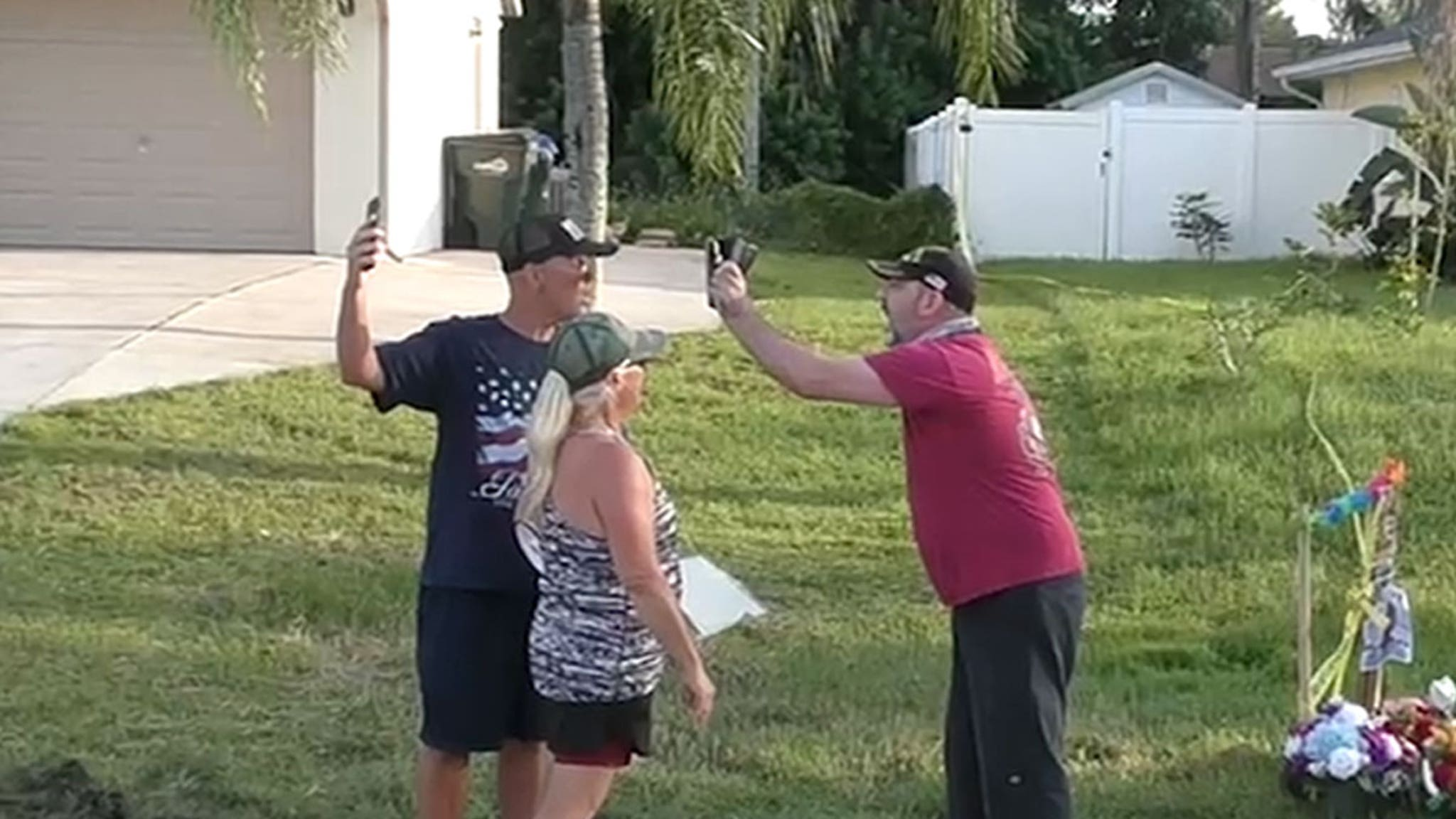 Fight Breaks Out in Front of Brian Laundrie's Florida Home