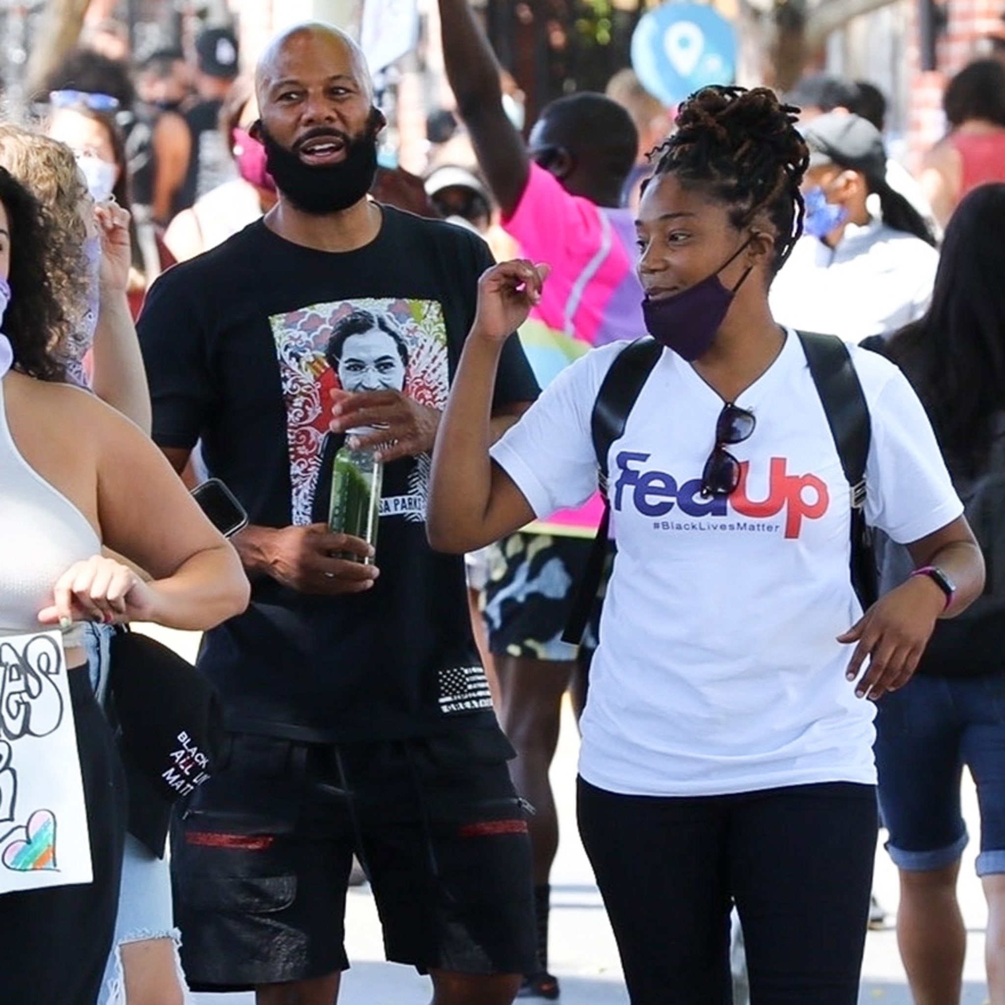 Common And Tiffany Haddish Join All Black Lives Matter Protest In L A