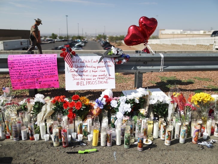 Memorial Outside of Walmart After El Paso Shooting