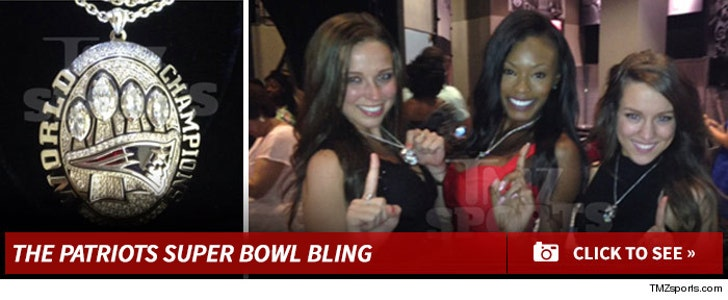 Patriots Cheerleaders -- The Super Bowl Bling
