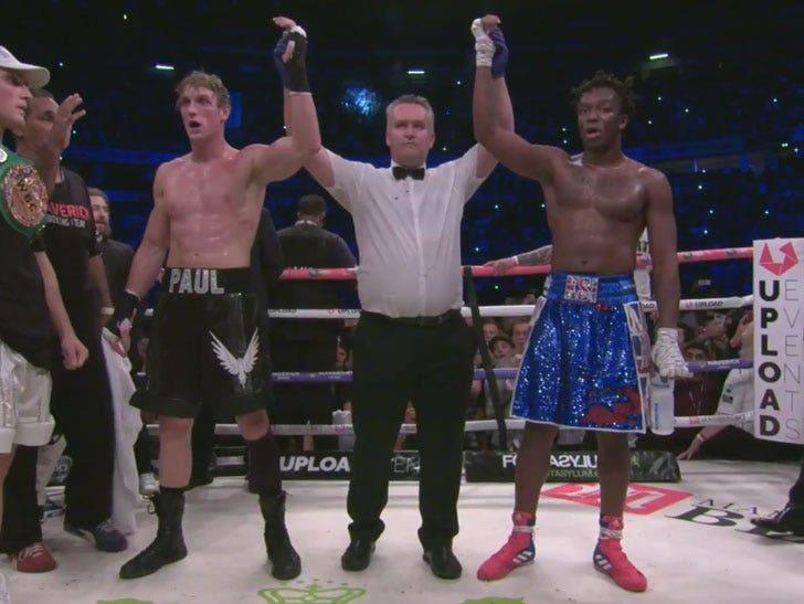 Image result for ksi wins fight against logan paul