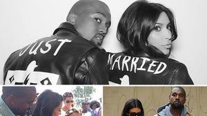 Kim Kardashian and Kanye West -- Happy 73rd (Day) Anniversary!!!