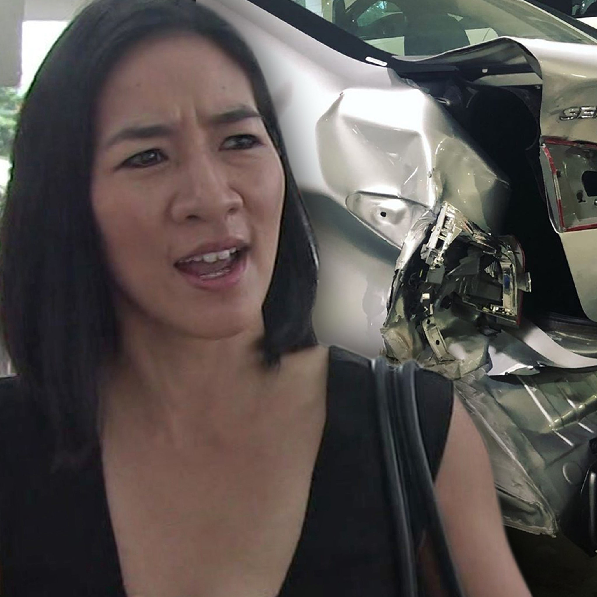 Michelle Kwan In Bad Car Crash, Rips 'Coward' Who Drove Off