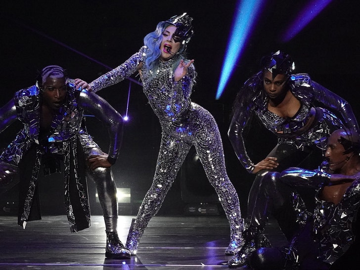 Lady Gaga Performs at AT&T Super Bowl Pre-Game Party