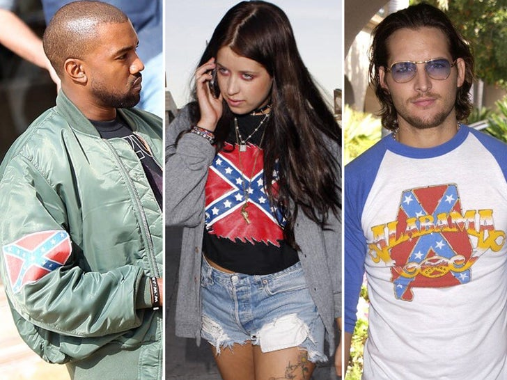 Stars Wearing Confederate Flags
