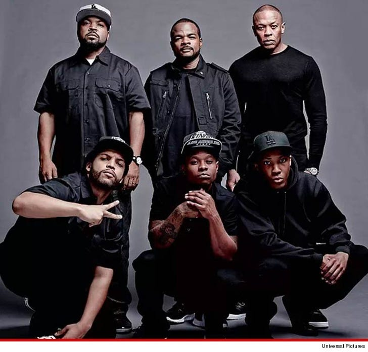 NWA Movie Shooting -- 'Straight Outta Compton' Gang-Style