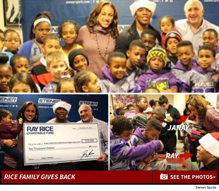 Ray Janay Rice Family Gives Back