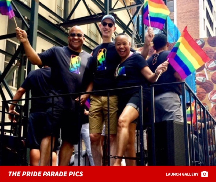 NBA Commish Adam Silver At Gay Pride