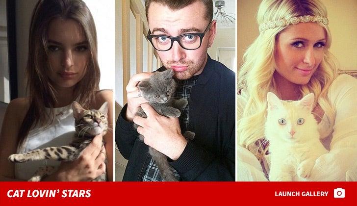 Celebrities and Their Feline Friends