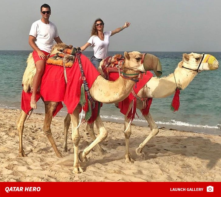 Tom Brady and Gisele Bundchen -- Qatar Hero
