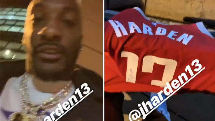promo code 104aa 45d28 James Harden Gives Signed Jersey To Aqib Talib, 'That Thing ...