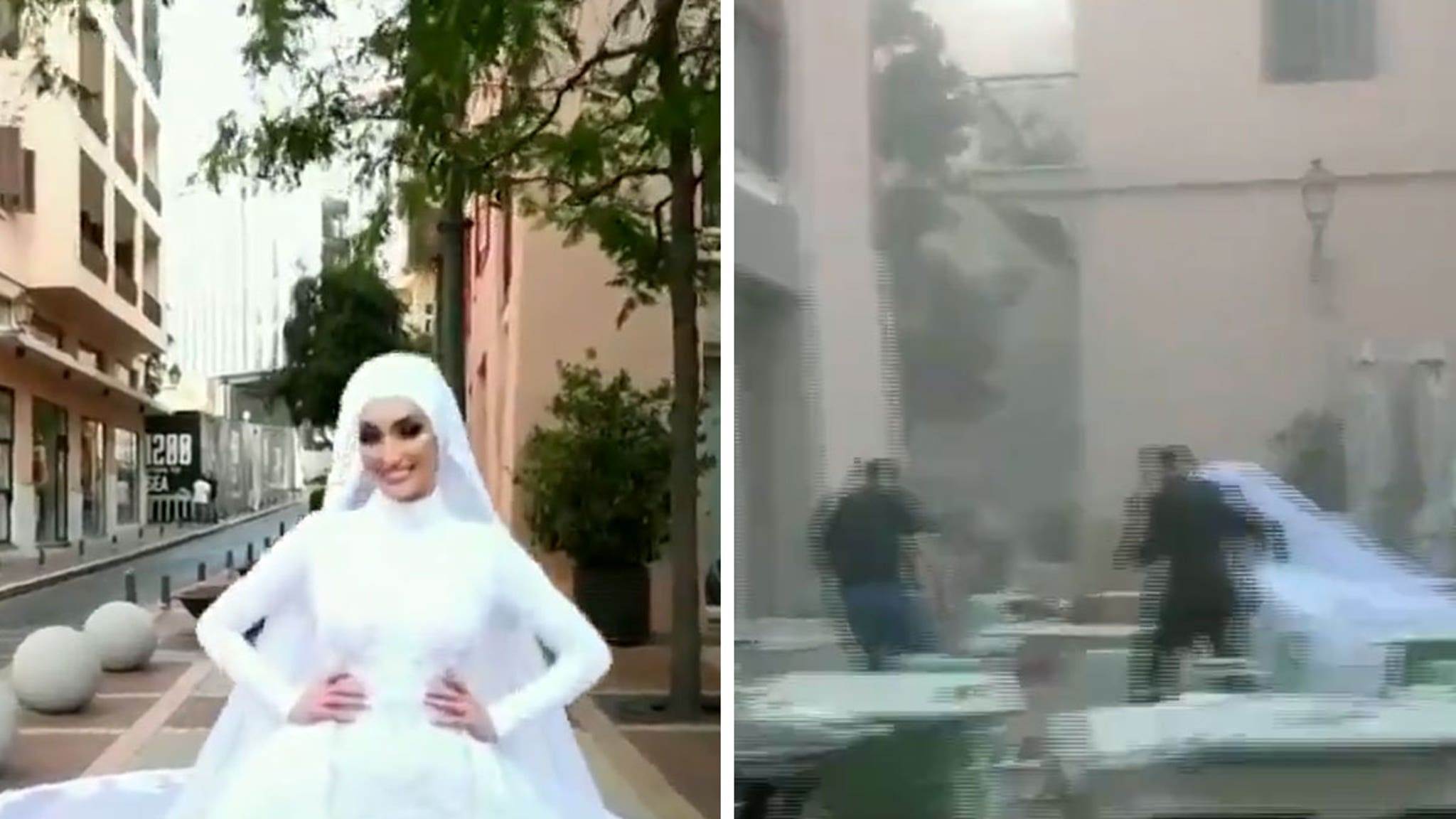 Video of Bride Taking Wedding Pics in Beirut Shows Moment of Explosion