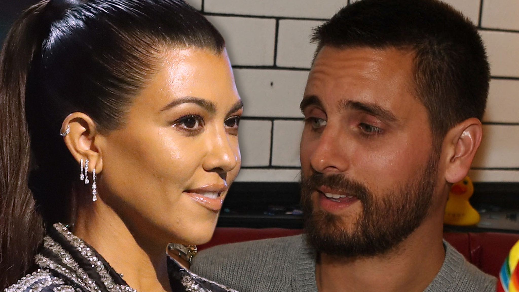 Kourtney Kardashian & Scott Disick Exes Spending More Time Together ... But They're NOT a Couple