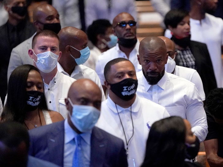 Celebs At George Floyd's Funeral In Houston