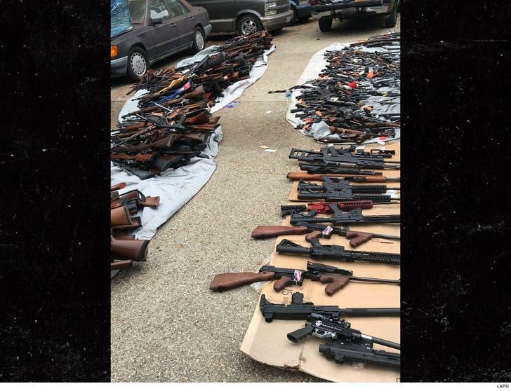 Massive Gun Confiscation in Exclusive Los Angeles Neighborhood