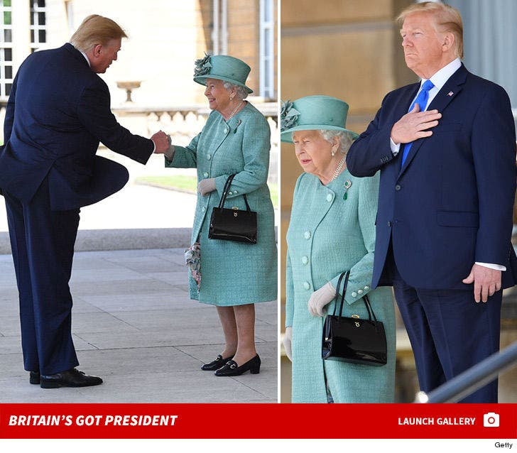 Trump Visits Queen Elizabeth -- Britain's Got President