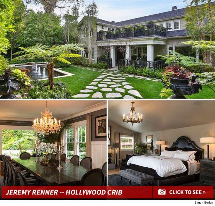 Jeremy Renner -- Hollywood Crib