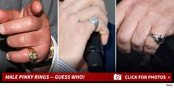 Stars With Sweet Pinky Rings -- Guess Who!