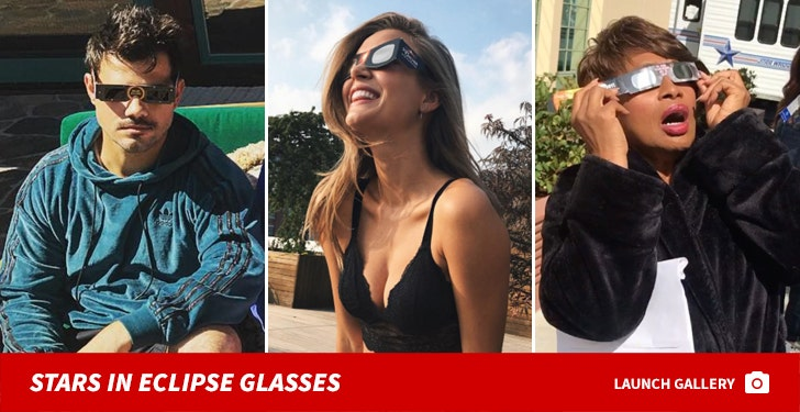Stars in Eclipse Spectacles -- See the Shady Celebs