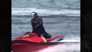 Man Dressed as Joker Jet Skis on East River in New York