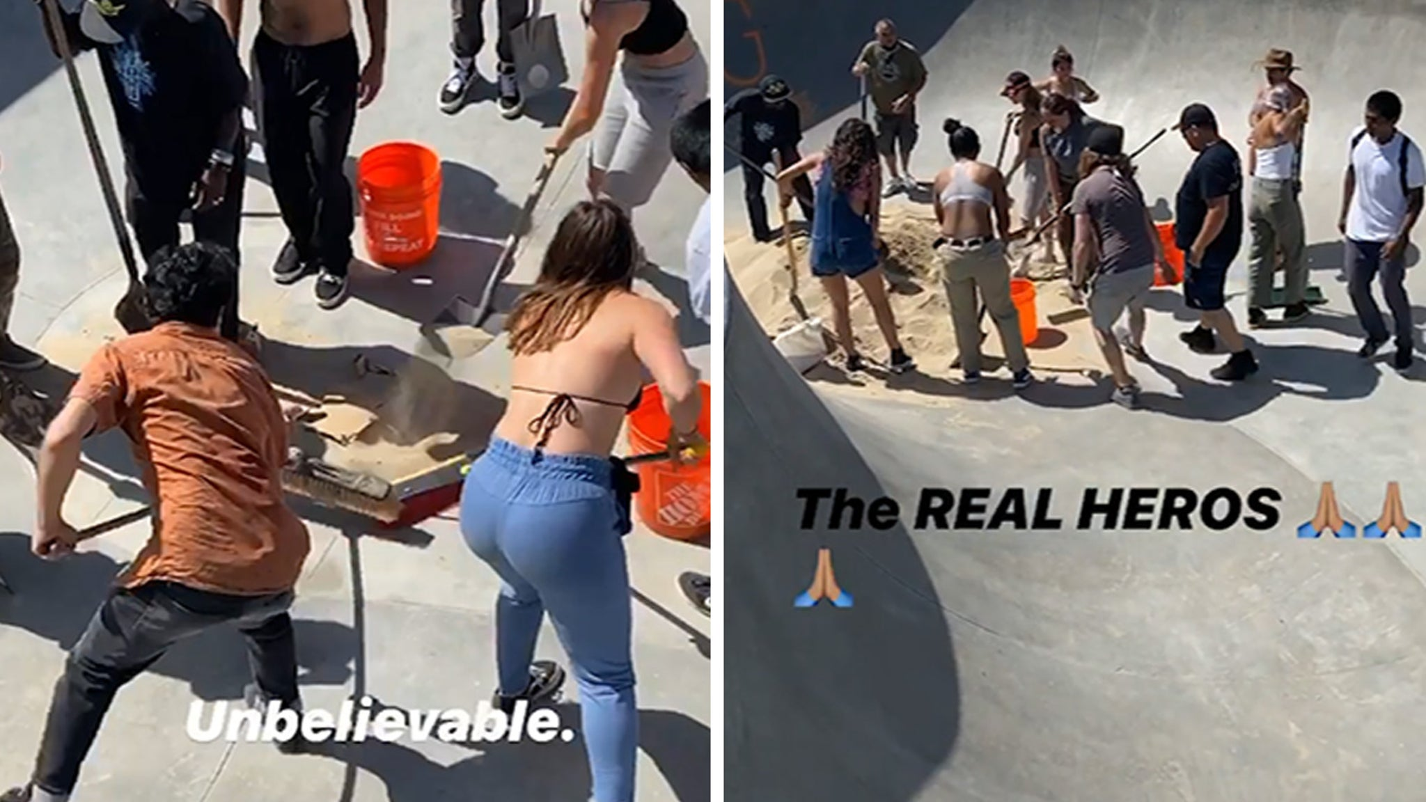 Skateboarders Remove Sand From Iconic CA Park, Defy Officials' Orders