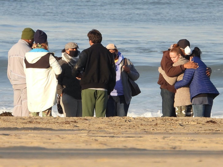 Shad Gaspard's Family and Friends Gather On The Beach