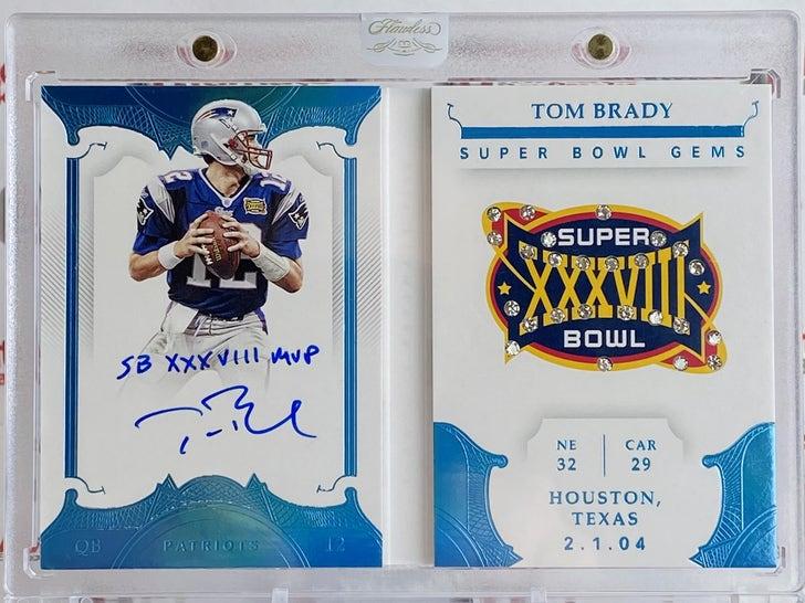 Tom Brady Signed Card With Real Diamonds