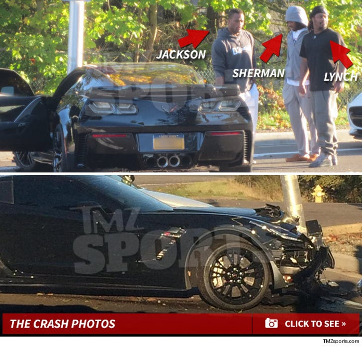 Fred Jackson and Marshawn Lynch -- The Car Accident Photos