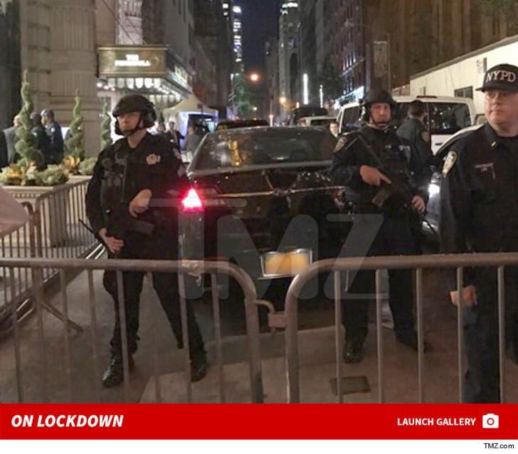 Hillary Clinton -- Police Presence at the Peninsula Hotel