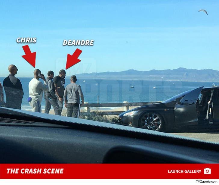 Chris Paul & DeAndre Jordan -- The Crash Scene