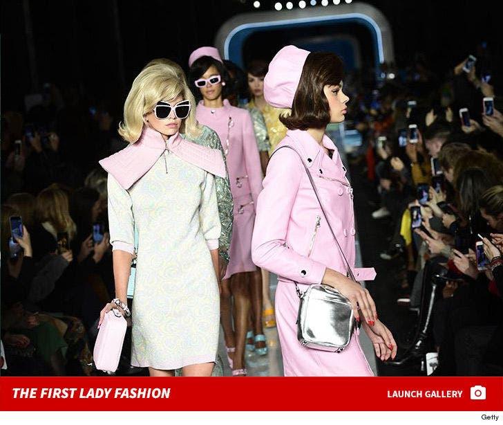 Moschino's Jackie-O Style at Milan Fashion Week