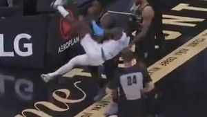 Lakers' Dennis Schroder Taken Down By 'WWE' Move In Mid-Game Scuffle W/ Raptors