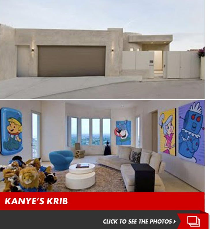 Kanye West's Bachelor Pad -- For $ale