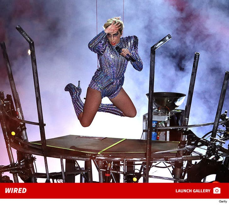 Lady Gaga's High-Flying Halftime Performance