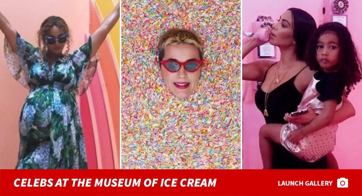 Chillin' Stars -- Celebs at the Museum of Ice Cream