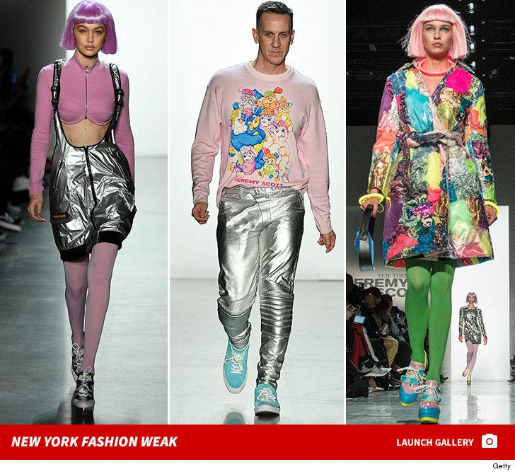 Models Walk for Jeremy Scott and Tom Ford at New York Fashion Week