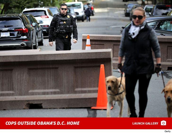 Cops Outside Obama's D.C. Home
