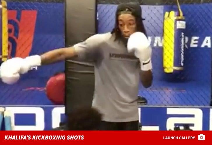Wiz Khalifa's Kickboxing Photos